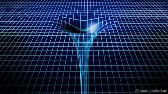 在黑洞中,时空的扭曲程度到达极点